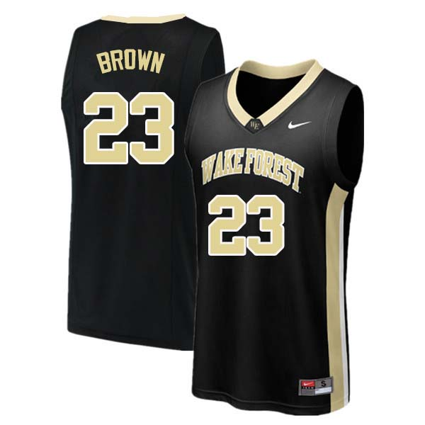Men #23 Chaundee Brown Wake Forest Demon Deacons College Basketball Jerseys Sale-Black