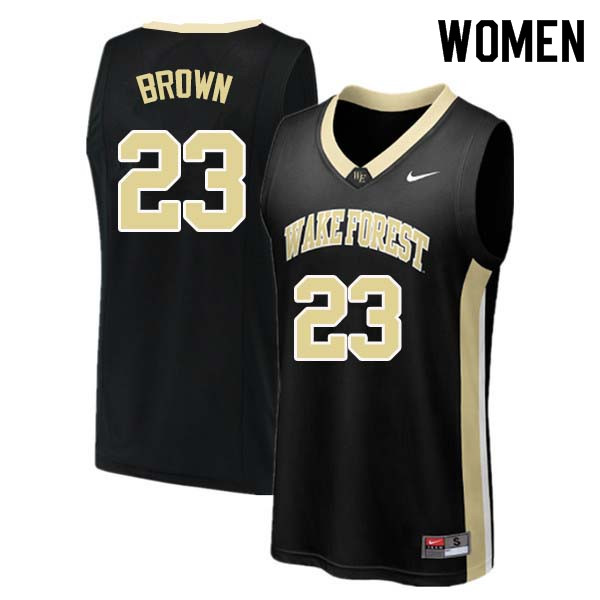 Women #23 Chaundee Brown Wake Forest Demon Deacons College Basketball Jerseys Sale-Black