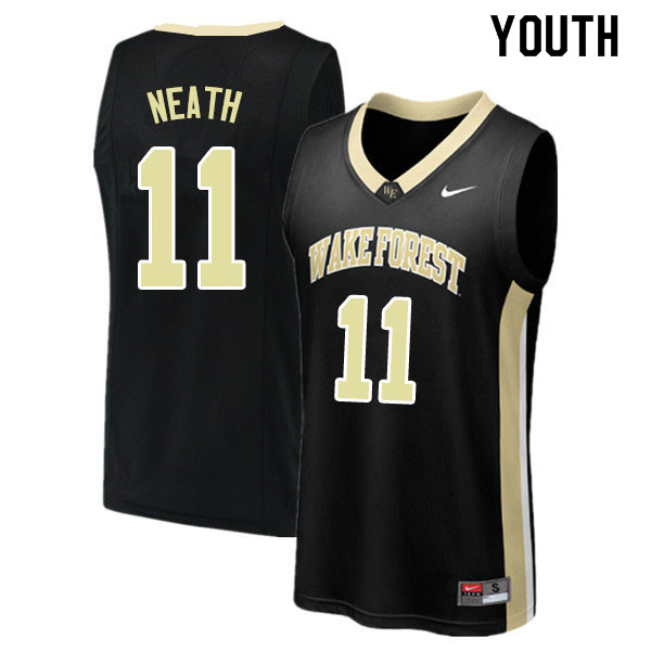 Youth #11 Jahcobi Neath Wake Forest Demon Deacons College Basketball Jerseys Sale-Black