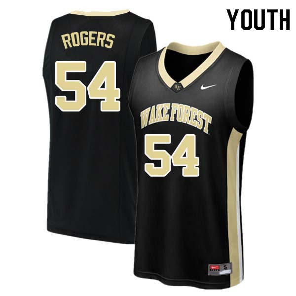 Youth #54 Rodney Rogers Wake Forest Demon Deacons College Basketball Jerseys Sale-Black